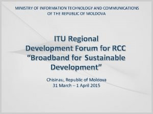 MINISTRY OF INFORMATION TECHNOLOGY AND COMMUNICATIONS OF THE