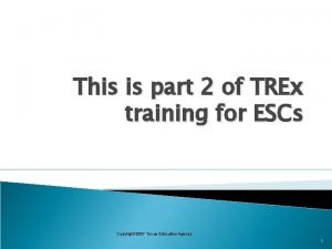 This is part 2 of TREx training for