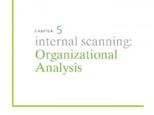 Organizational analysis concerned with identifying and developing an