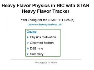 Heavy Flavor Physics in HIC with STAR Heavy