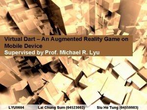 Virtual Dart An Augmented Reality Game on Mobile