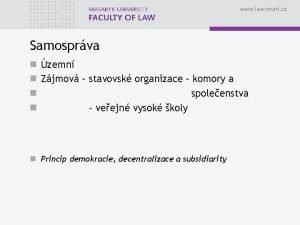 www law muni cz Samosprva n zemn n