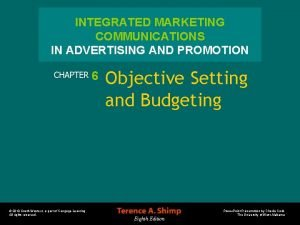 INTEGRATED MARKETING COMMUNICATIONS IN ADVERTISING AND PROMOTION CHAPTER