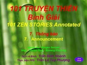 101 TRUYN THIN Bnh Gii 101 ZEN STORIES