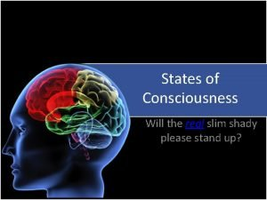 States of Consciousness Will the real slim shady