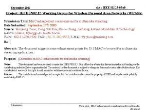 doc IEEE 802 15 03r 0 September 2003