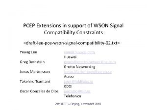 PCEP Extensions in support of WSON Signal Compatibility