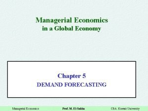 Managerial Economics in a Global Economy Chapter 5