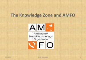 The Knowledge Zone and AMFO 9102020 Amfo Kenniszone