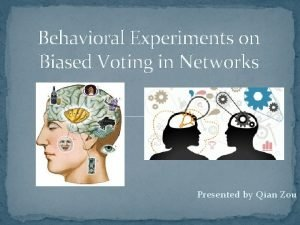 Behavioral Experiments on Biased Voting in Networks Presented
