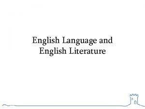 English Language and English Literature Exam Dates Literature