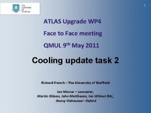 1 ATLAS Upgrade WP 4 Face to Face
