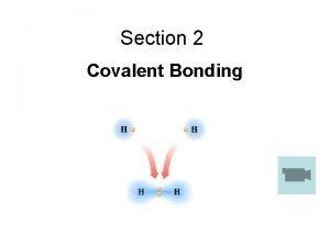 Section 2 Covalent Bonding Covalent Bonds Covalent bonds
