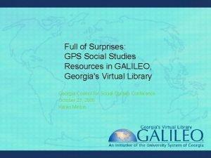 Full of Surprises GPS Social Studies Resources in