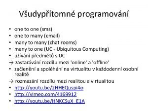 Vudyptomn programovn one to one sms one to