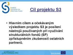 Cl projektu S 3 Hlavnm clem a oekvanm