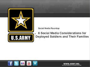 Social Media Roundup 6 Social Media Considerations for