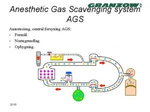 Anesthetic Gas Scavenging system AGS Anstesisug central forsyning