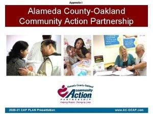 Appendix I Alameda CountyOakland Community Action Partnership 2020
