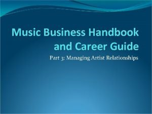 Music Business Handbook and Career Guide Part 3