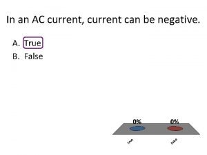 In an AC current current can be negative