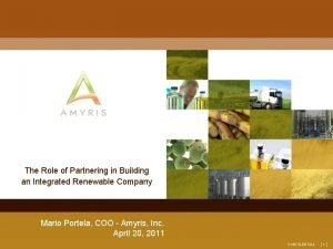 The Role of Partnering in Building an Integrated