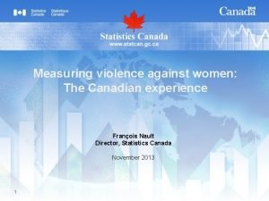 Measuring violence against women The Canadian experience Franois