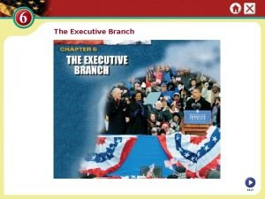 The Executive Branch NEXT Section 1 The Presidency