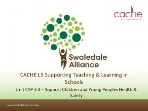 CACHE L 3 Supporting Teaching Learning in Schools