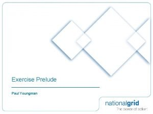 Exercise Prelude Paul Youngman Exercise Prelude took place