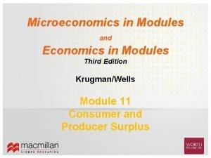 Microeconomics in Modules and Economics in Modules Third