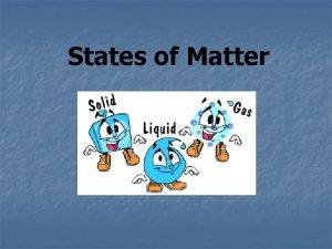 States of Matter 3 States of Matter n