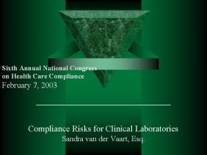 Sixth Annual National Congress on Health Care Compliance