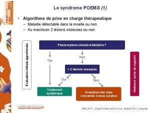 Le syndrome POEMS 1 Algorithme de prise en