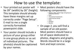 How to use the template Your printed out