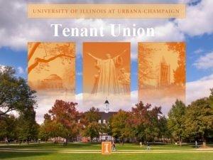 Tenant Union Road Map History Established September 20