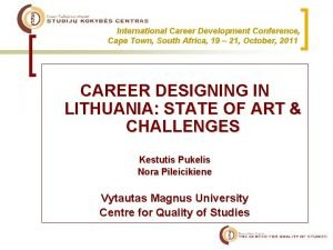 International Career Development Conference Cape Town South Africa