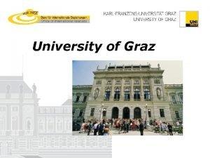 University of Graz Graz UNESCOs World Heritage Cultural