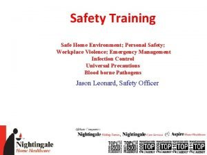 Safety Training Safe Home Environment Personal Safety Workplace