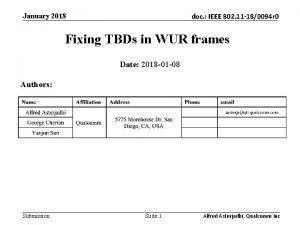 January 2018 doc IEEE 802 11 180094 r