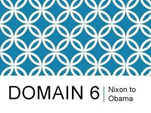 DOMAIN 6 Nixon to Obama 37 RICHARD NIXON