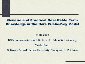Generic and Practical Resettable Zero Knowledge in the