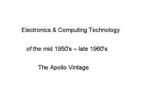 Electronics Computing Technology of the mid 1950s late