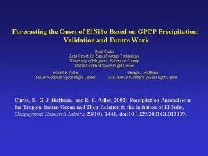 Forecasting the Onset of El Nio Based on