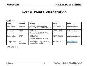 January 2008 doc IEEE 802 11 072115 r