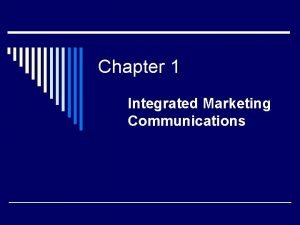 Chapter 1 Integrated Marketing Communications United States Army