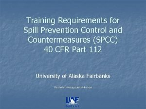 Training Requirements for Spill Prevention Control and Countermeasures