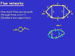 Flow networks 2 5 How much flow can