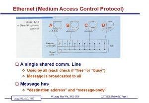 Ethernet Medium Access Control Protocol A B C
