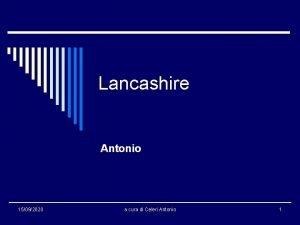 Lancashire Antonio 15092020 a cura di Celeri Antonio